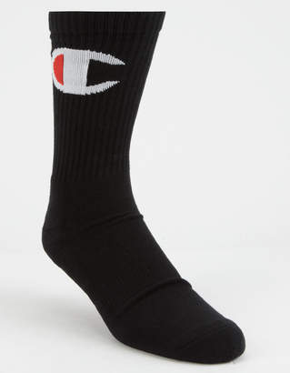 Champion Big C Black Mens Crew Socks