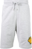 Love Moschino logo patch track shorts - men - Cotton/Spandex/Elastane - M