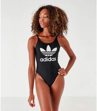 adidas Women's Trefoil Skinny Strap Swimsuit