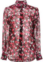 Saint Laurent Paris collar printed shirt - women - Silk - 34