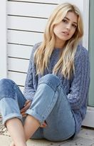 La Hearts Cozy Cable Stitch Pullover Sweater