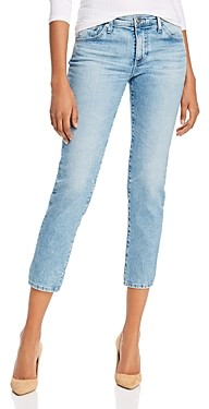 AG Jeans Prima Mid-Rise Cropped Straight Jeans in 26 Years Skylight