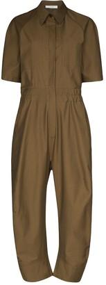 LVIR Short-Sleeve Straight-Leg Jumpsuit
