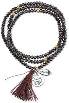 """Unwritten Friends Forever"""" Beaded Wrap Tassel Bracelet with Silver-Plated Brass Accents"""