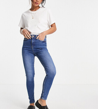 New Look Petite lift & shape skinny jean in mid blue