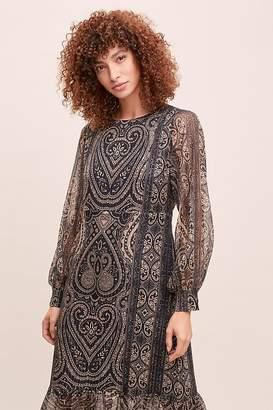 Anthropologie Kachel X Kachel Metallic-Paisley Dress