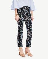 Ann Taylor Petite Kate Wild Flower Cropped Pants
