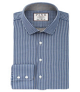 Thomas Pink Pauling Check Super Slim Fit Button Cuff Shirt