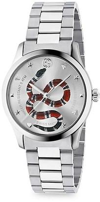 Gucci G-Timeless Snake Link Bracelet Watch