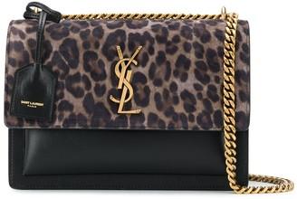 Saint Laurent medium leopard-print Sunset bag