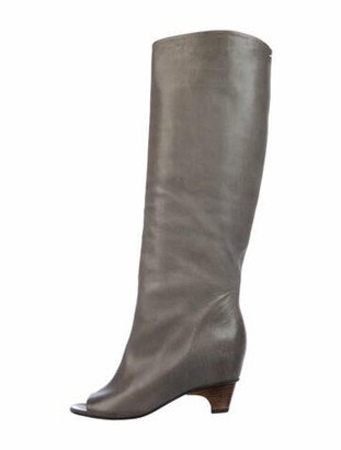 Maison Margiela Leather Boots Grey