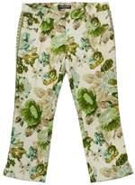 Dolce & Gabbana Floral Print Linen Blend Cropped Pants