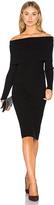 Line & Dot Lea Off Shoulder Dress in Black