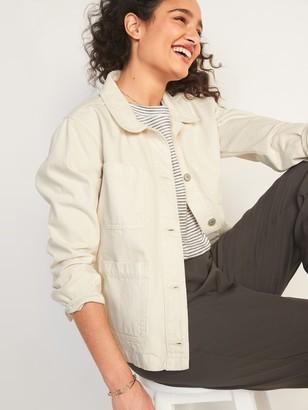 Old Navy Ecru-Wash Jean Chore Jacket for Women