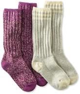 """L.L. Bean Merino Wool Ragg Sock, 12"""" Stripe 2-Pack"""