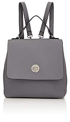 Barneys New York WOMEN'S FAUX-LEATHER BACKPACK - GRAY
