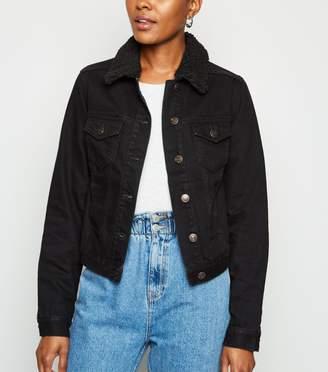 New Look Borg Collar Denim Jacket