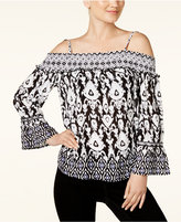 INC International Concepts Off-The-Shoulder Peasant Top, Created for Macy's