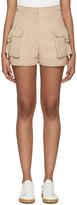 Balmain Beige Cargo Shorts