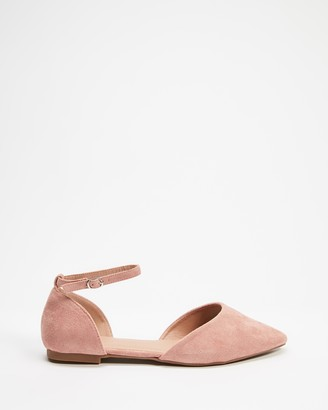 Betsy - Women's Pink Ballet Flats - Cut Out Ballet Flats - Size 38 at The Iconic