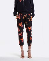 Coco Ribbon Navy Parrot Capri Pants