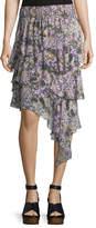 Isabel Marant Jeezon Floral-Knit Cotton Skirt