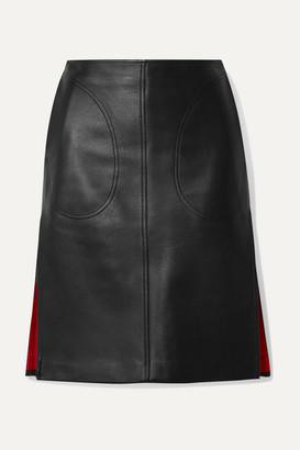 Peter Do Leather Skirt - Black