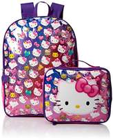 Hello Kitty Girls' Backpack with Lunch Kit