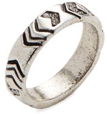 House Of Harlow Silver-Tone Echo Crest Midi Ring