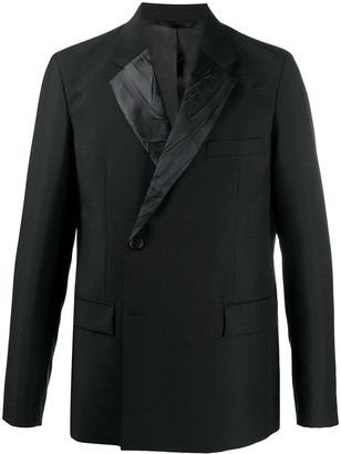 Acne Studios Contrast Lapel Double Breasted Suit Jacket