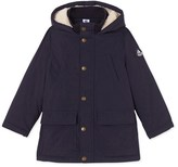 Petit Bateau Boys parka in water-resistant canvas