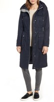 Laundry by Shelli Segal Women's Cotton Blend Long Utility Trench Coat