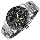 Raymond Weil W1 - Black Stainless Steel Chronograph Watch w/ Tachymetre