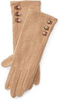Ralph Lauren Buttoned Touch Screen Gloves
