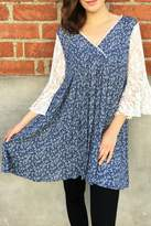 In Style Lace Denim Tunic