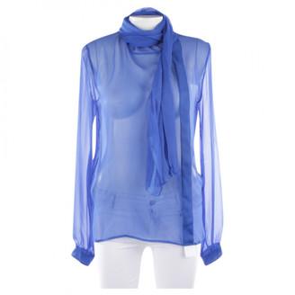 Saint Laurent Blue Silk Tops