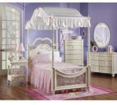 Bacati Ball Gown Pink Twin Bed Set
