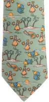 Hermes Silk Hula Print Tie