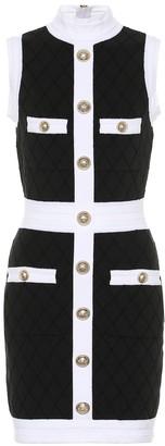 Balmain Boucle cotton-blend dress