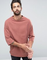 ONLY & SONS Sweat with Crew Neck and 3/4 Sleeve Detail