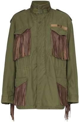 R 13 M65 fringed cotton cargo jacket