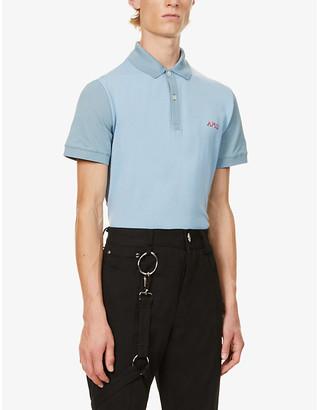 Alexander McQueen Logo-embroidered cotton-knit polo shirt