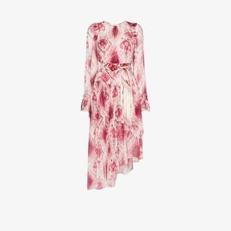 Zimmermann Ikat print asymmetric silk dress