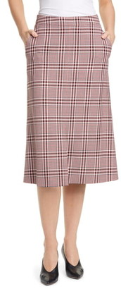 HUGO Redani Plaid Skirt