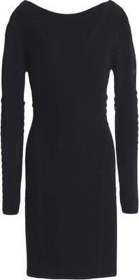 Rag & Bone Brandy Pointelle-trimmed Ribbed-knit Mini Dress
