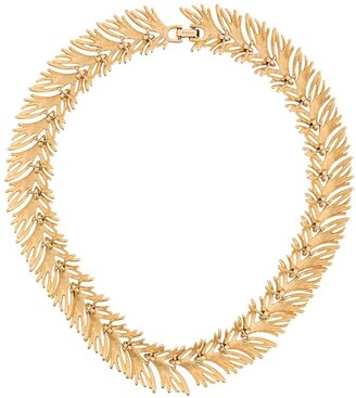 Monet Pre-Owned Monet golden seagrass necklace