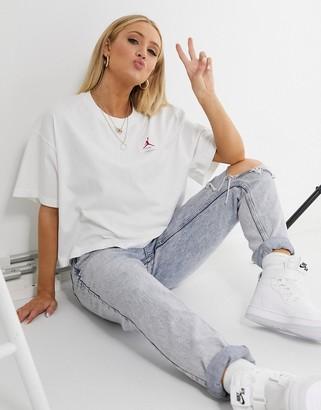 Jordan essentials boxy t-shirt in white