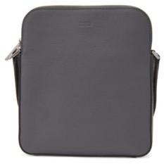 BOSS Envelope bag in grained Italian leather