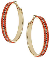 Dorothy Perkins Coral twist hoop earrings