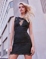 Morgan Lace High Neck Mini Dress